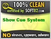 Soft82 100% Clean Award For Show Cue System
